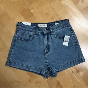 Pacsun Light Wash High Waisted Mom Shorts